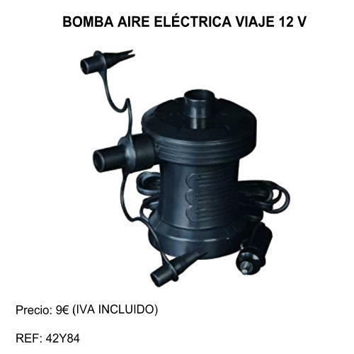 bomba inflable electrica viaje