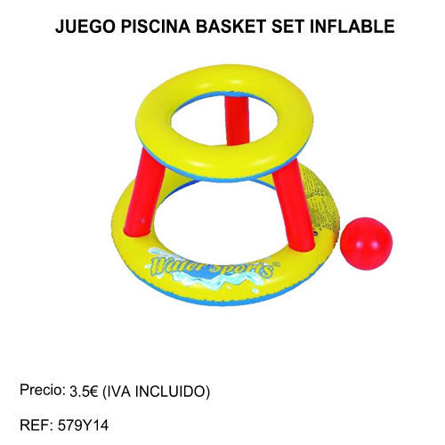 juego piscina basket set inflable 1
